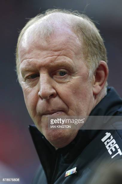West Bromwich caretaker coach Gary Megson looks on before the English Premier League football match between Tottenham Hotspur and West Bromwich...