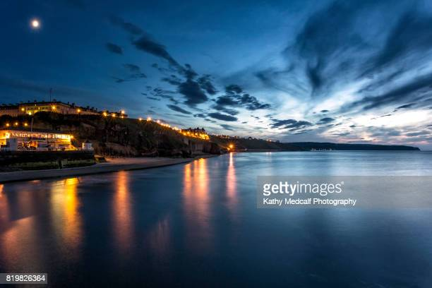west cliff at night - kathy west stock pictures, royalty-free photos & images