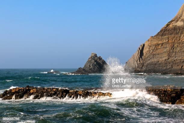 west coast algarve, portugal - atlantik stock pictures, royalty-free photos & images