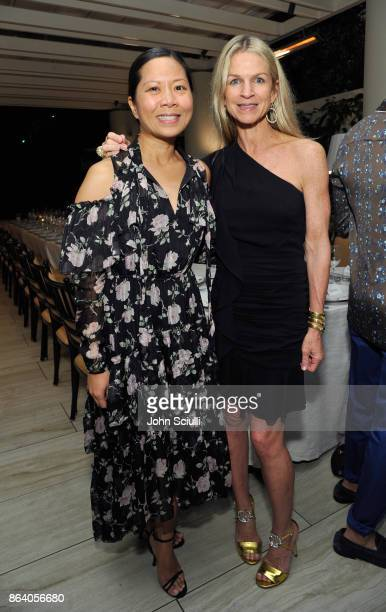West Coast Bureau Chief Marcy Medina and Crystal Lourd attend THE OUTNET x Amber Valletta at Waldorf Astoria Beverly Hills on October 19 2017 in...
