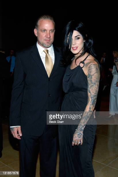 West Coast Choppers CEO TV personality Jesse James and Tattoo Artist Kat Von D of LA Ink attend an An Evening With Women at The Beverly Hilton hotel...