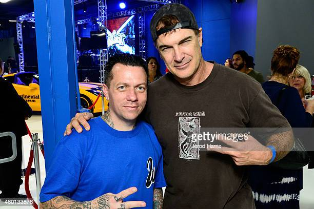 West Coast Customs founder and CEO Ryan Friedlinghaus and actor Patrick Warburton attend the Grand Opening of West Coast Customs Burbank Headquarters...