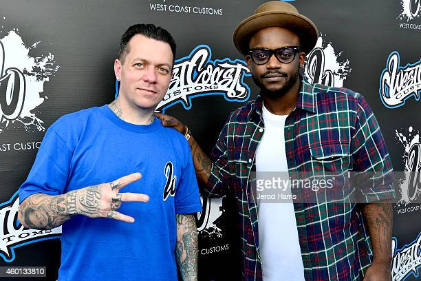 West Coast Customs founder and CEO Ryan Friedlinghaus and DJ Tay James attend the Grand Opening of West Coast Customs Burbank Headquarters on...