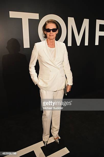 West Coast Director of Vogue and Teen Vogue Lisa Love attends the TOM FORD Autumn/Winter 2015 Womenswear Collection Presentation at Milk Studios in...
