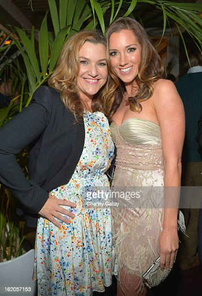West Coast Editor of Vanity Fair Krista Smith wearing Juicy Couture and actress Carly Craig attend Vanity Fair and Juicy Couture's Celebration of the...