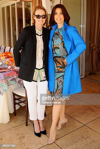 West Coast Editorial Director of Vogue Lisa Love and actress Bellamy Young attend Vogue Lunch In Celebration Of The Etro Spring Collection Hosted By...