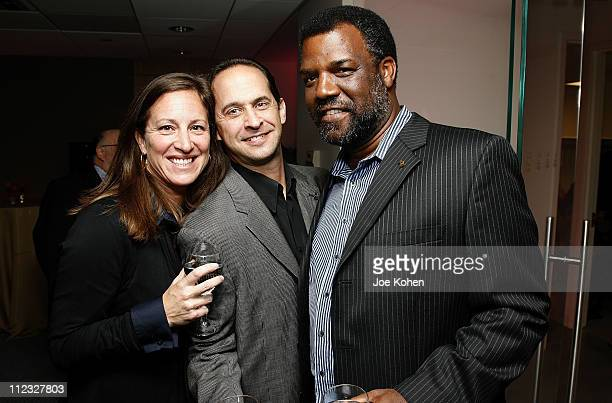 West Coast Regional Director of the Recording Academy Lizzy Moore Steve Sterling and musician Merl Saunders of the San Francisco chapter attend the...