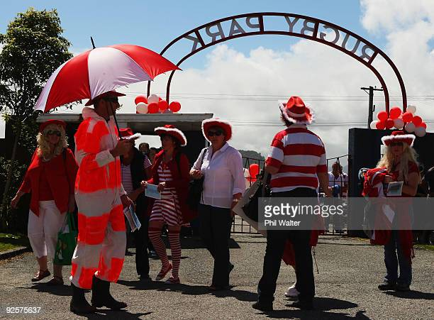 West Coast supporters arrive for the Heartland Championship Lochore Cup Final match between West Coast and North Otago at Rugby Park on October 31...