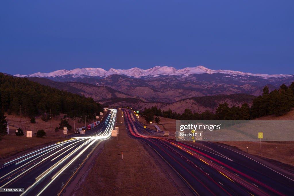 I-70 West, Colorado : Stock Photo