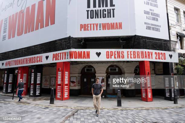 West End theatres ramain closed, with musicals and other theatre shows on hold under coronavirus lockdown on 1st July 2020 in London, England, United...
