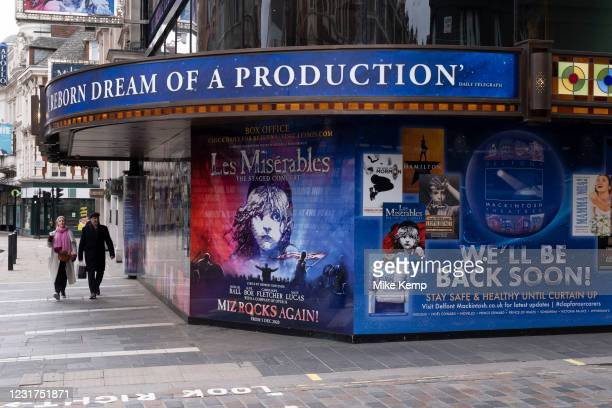 West End theatres ramain closed, with musicals and other theatre shows, like the incredibly popular Les Miserables at the Sondheim Theatre as the...