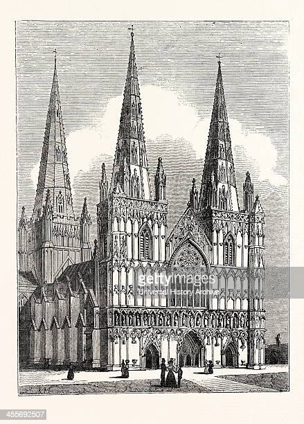 West Front Of Lichfield Cathedral.
