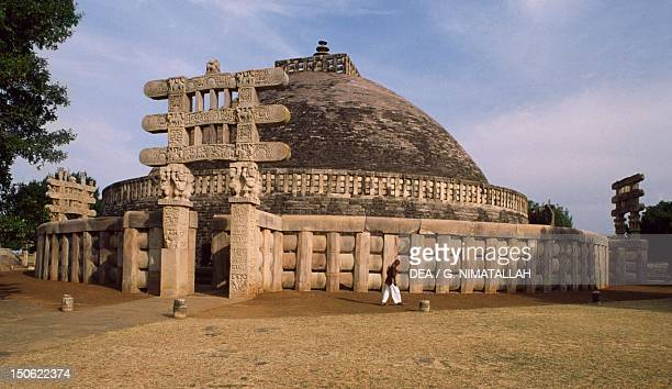 West gate of the Stupa I in Sanchi India Indian civilization 1st century BC