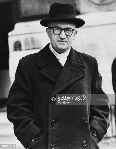 West German acting Foreign Minister Walter Hallstein leaves the Foreign Office in London after calling on British Foreign Secretary Anthony Eden 30th...