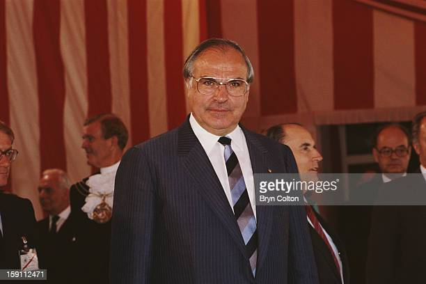 West German Chancellor Helmut Kohl at a reception for world leaders attending the G7 SevenNation Economic Summit in London 7th June 1984 World...