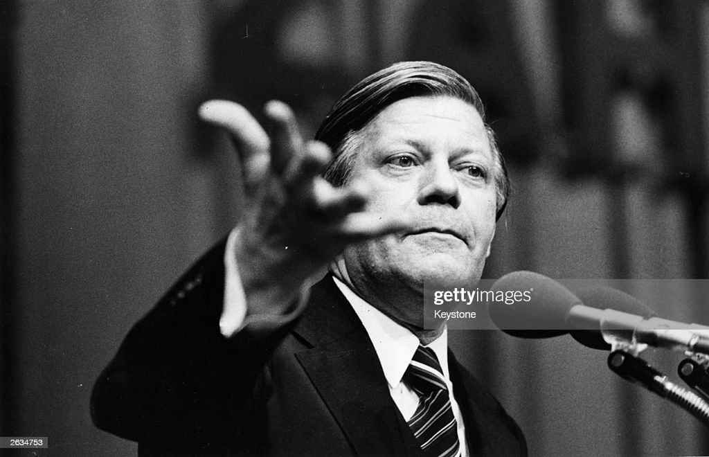 West German Chancellor of the Federal Republic of Germany Helmut Schmidt.