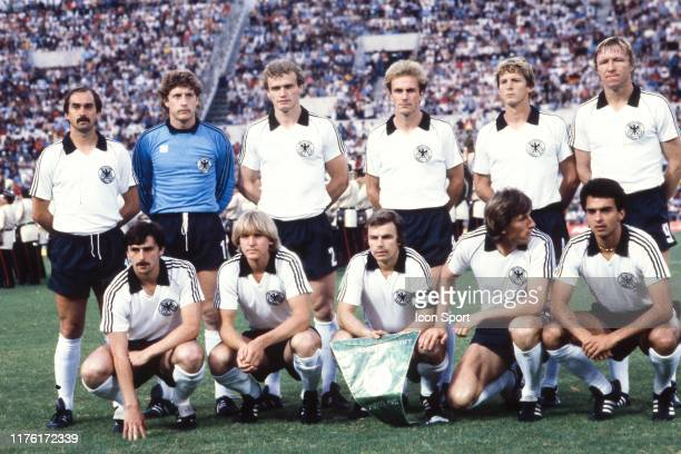 West Germany line up for a team group before the UEFA Euro 1980 Final between Belgium and West Germany at the Stadio Olimpico on June 22, 1980 in...