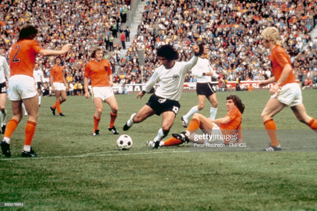 Soccer - World Cup 1974 - final - West Germany v Holland : News Photo