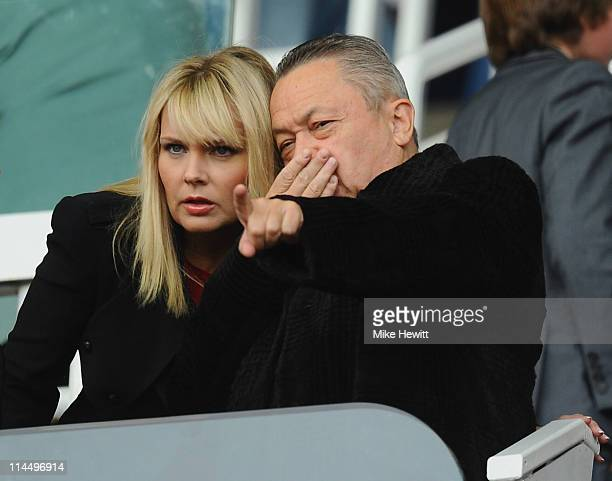 West Ham chairman David Sullivan looks on during the Barclays Premier League match between West Ham United and Sunderland at Boleyn Ground on May 22...