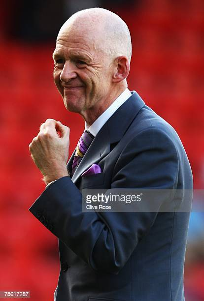 West Ham Chairman Eggert Magnusson looks on prior to the preseason friendly between Leyton Orient and West Ham United at Brisbane Road on July 24...