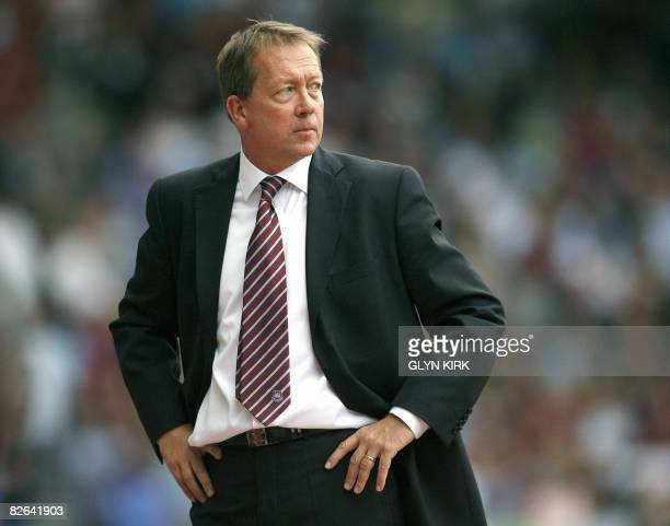 West Ham football club's manager Alan Curbishley reacts as his side challenge Wigan at Upton Park in London on August 16 2008 Alan Curbishley has...