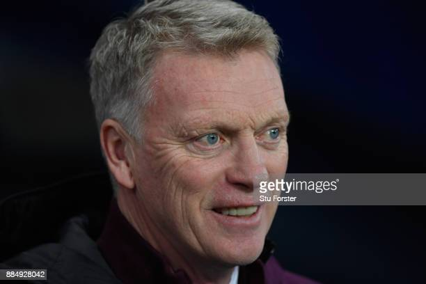 West Ham manager David Moyes looks on during the Premier League match between Manchester City and West Ham United at Etihad Stadium on December 3...