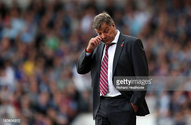 SEPTEMBER 22 West Ham manager Sam Allardyce looks on during the Barclays Premier League match between West Ham United and Sunderland at the Boleyn...