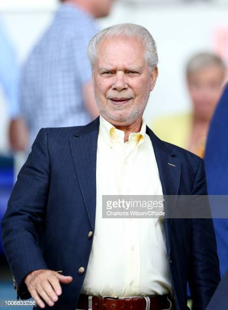 West Ham owner David Gold during the Pre-Season Friendly match between Ipswich Town and West Ham United at Portman Road on July 28, 2018 in Ipswich,...