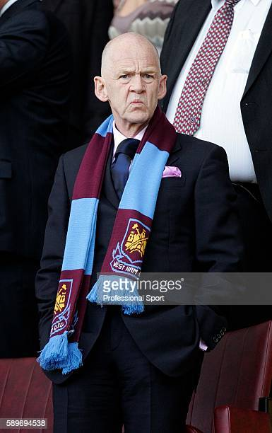 West Ham owner Eggert Magnusson looks during the Barclays Premiership match between Sheffield United and West Ham United at Bramall Lane on April 14...