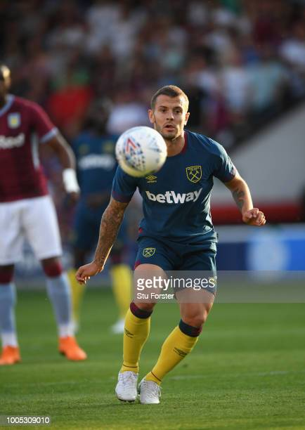 West Ham player Jack Wilshere in action during a friendly match between Aston Villa and West Ham United at Banks' Stadium on July 25 2018 in Walsall...