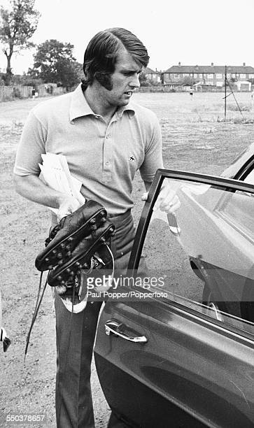 West Ham United and England football player Geoff Hurst leaves West Ham's training ground for the last time before joining Stoke City FC London July...