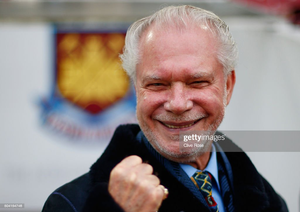 West Ham United Chairman David Gold poses for photographs prior to the Emirates FA Cup Third Round match between West Ham United and Wolverhampton Wanderers at Boleyn Ground on January 9, 2016 in London, England.