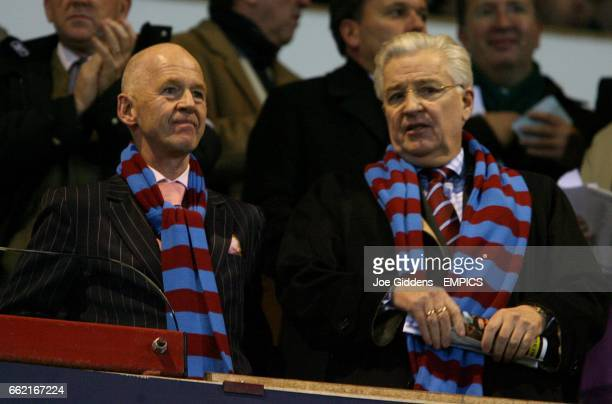 West Ham United Chairman Eggert Magnusson and owner Bjorgolfur Gudnundsson