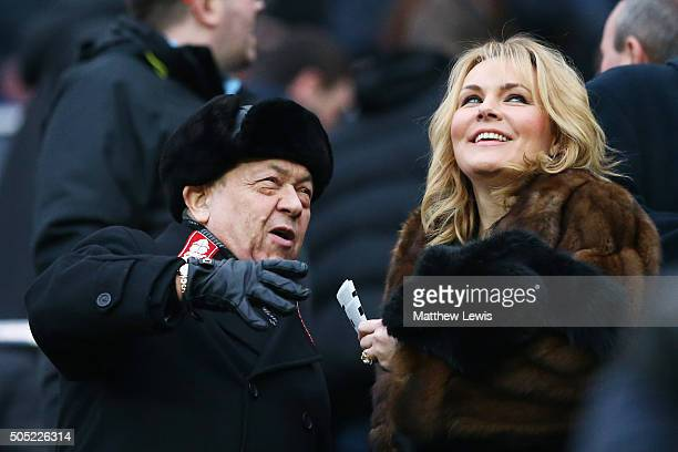 West Ham United cochairman David Sullivan is seen on the stand during the Barclays Premier League match between Newcastle United and West Ham United...