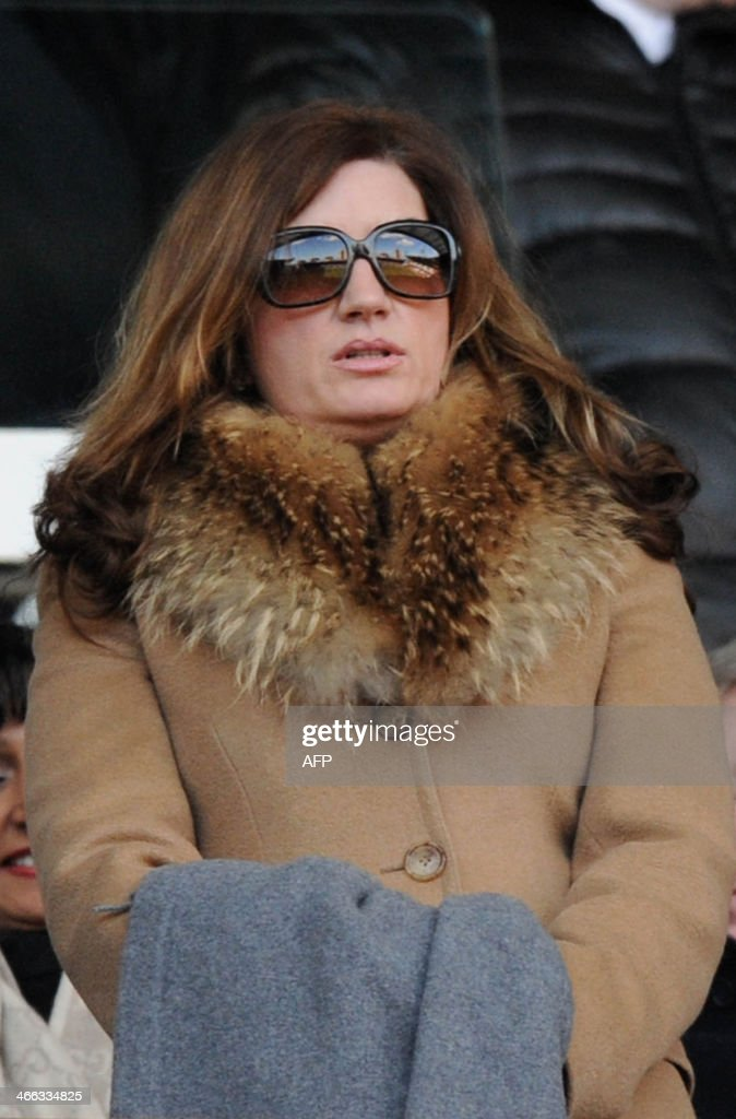 West Ham United Co-Chairman Karren Brady watches the match during the English Premier League football match between West Ham United and Swansea at the Boleyn Ground, Upton Park, in London on February 1, 2014. West Ham won 2-0.