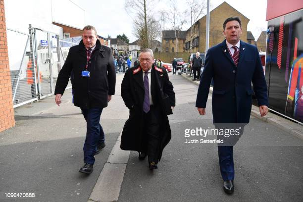 West Ham United coowner David Sullivan arrives at the stadium prior to the Premier League match between Crystal Palace and West Ham United at...