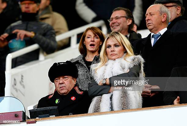 West Ham United coowner David Sullivan takes his seat before the Barclays Premier League match between West Ham United and Arsenal at Boleyn Ground...