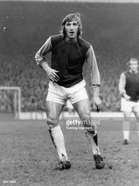 West Ham United Football Club player Billy Bonds in action