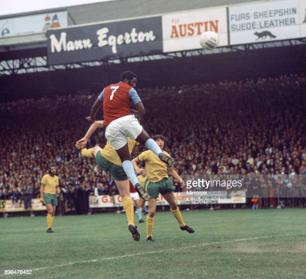 West Ham United footballer Clyde Best in action during a league match against Norwich City at Carrow Road Circa 1971