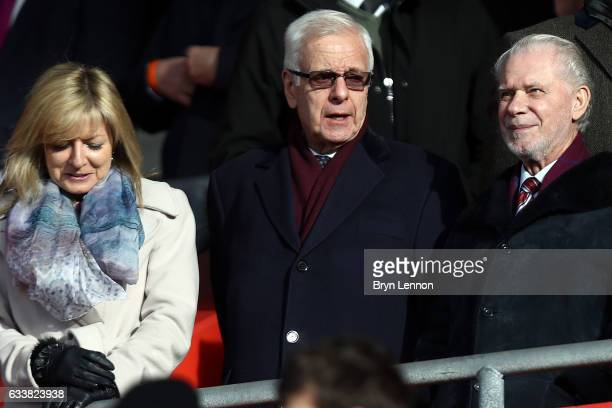 West Ham United Joint Chairman David Gold looks on at the start of the Premier League match between Southampton and West Ham United at St Mary's...