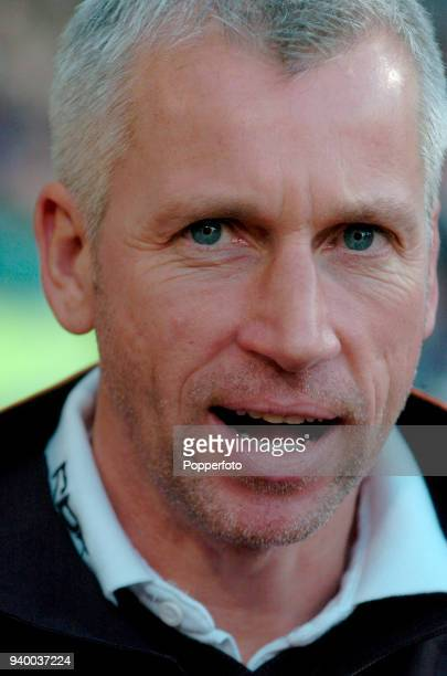 West Ham United manager Alan Pardew during the Barclays Premiership match between West Ham United and Sheffield United at Upton Park in London on...
