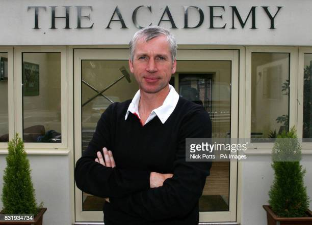 West Ham United manager Alan Pardew stands outside the 'The Academy' during a press conference at the Chadwell Heath Training Ground London