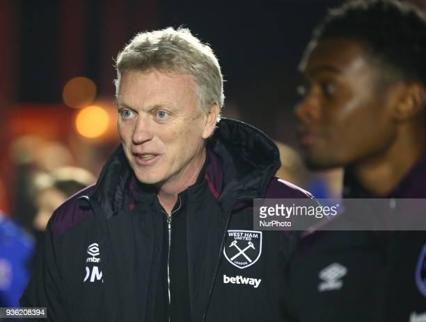 West Ham United manager David Moyes during Friendly match between Dagenham and Redbridge against West Ham United at Chigwell Construction stadium...