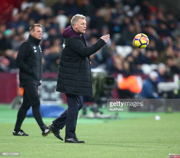 West Ham United manager David Moyes during Premier League match between West Ham United against Arsenal at The London Stadium Queen Elizabeth II...