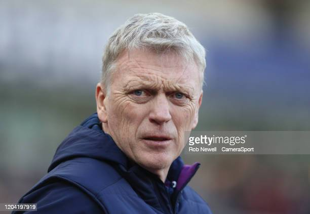 West Ham United manager David Moyes during the Premier League match between West Ham United and Southampton FC at London Stadium on February 29 2020...