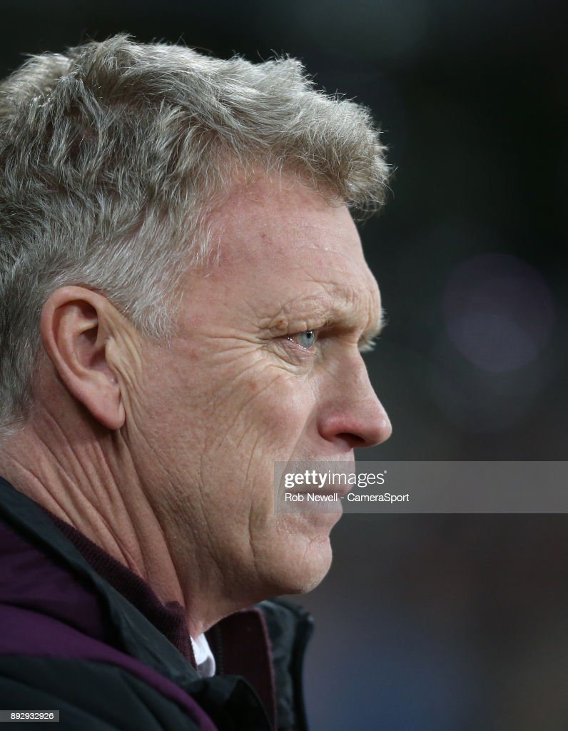 West Ham United manager David Moyes during the Premier League match between West Ham United and Arsenal at London Stadium on December 13, 2017 in London, England.