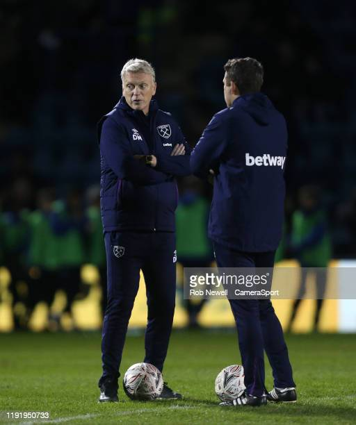 West Ham United manager David Moyes prior to the game during the FA Cup Third Round match between Gillingham and West Ham United at MEMS Priestfield...