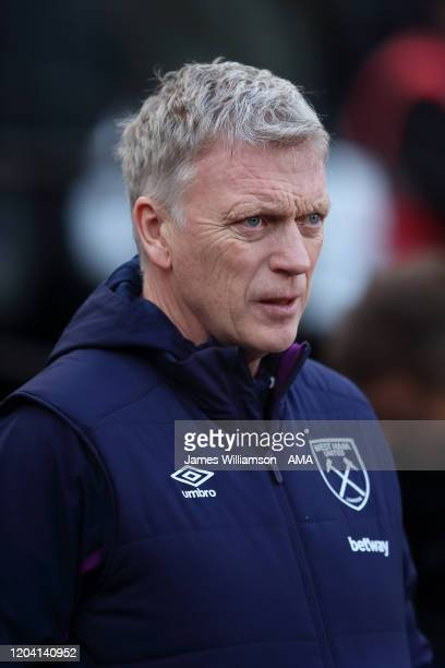West Ham United manager / head coach David Moyes during the Premier League match between West Ham United and Southampton FC at London Stadium on...