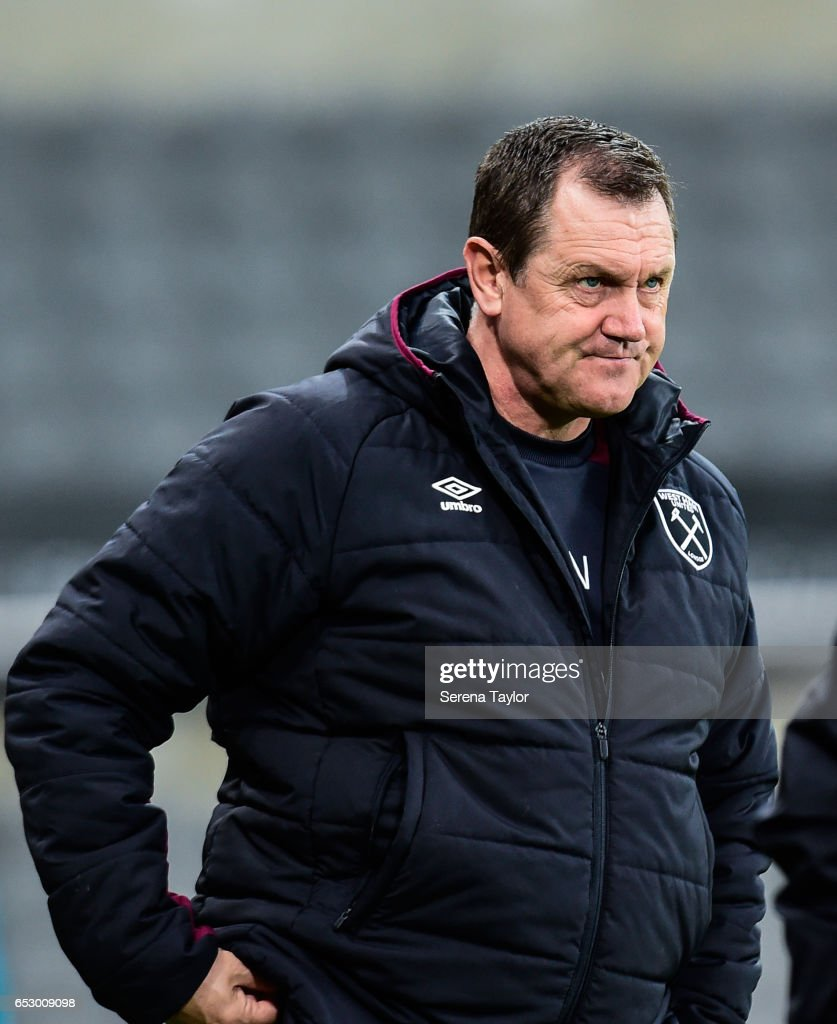 West Ham United Manager Terry Wesleyduring the Premier League 2 Match between Newcastle United and West Ham United at St.James' Park on March 13, 2017 in Newcastle upon Tyne, England.