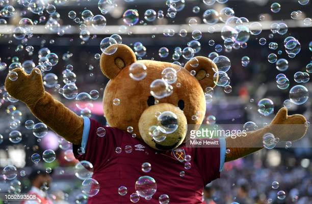 West Ham United mascot during the Premier League match between West Ham United and Tottenham Hotspur at London Stadium on October 20 2018 in London...